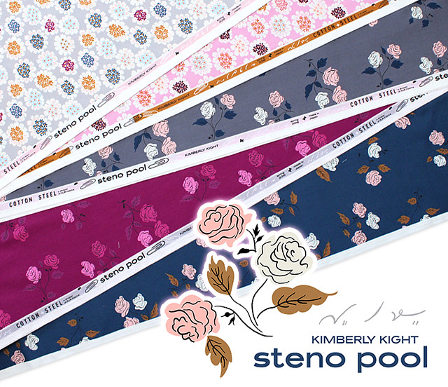 COTTON+STEEL Steno Pool Collection by Kimberly Kight
