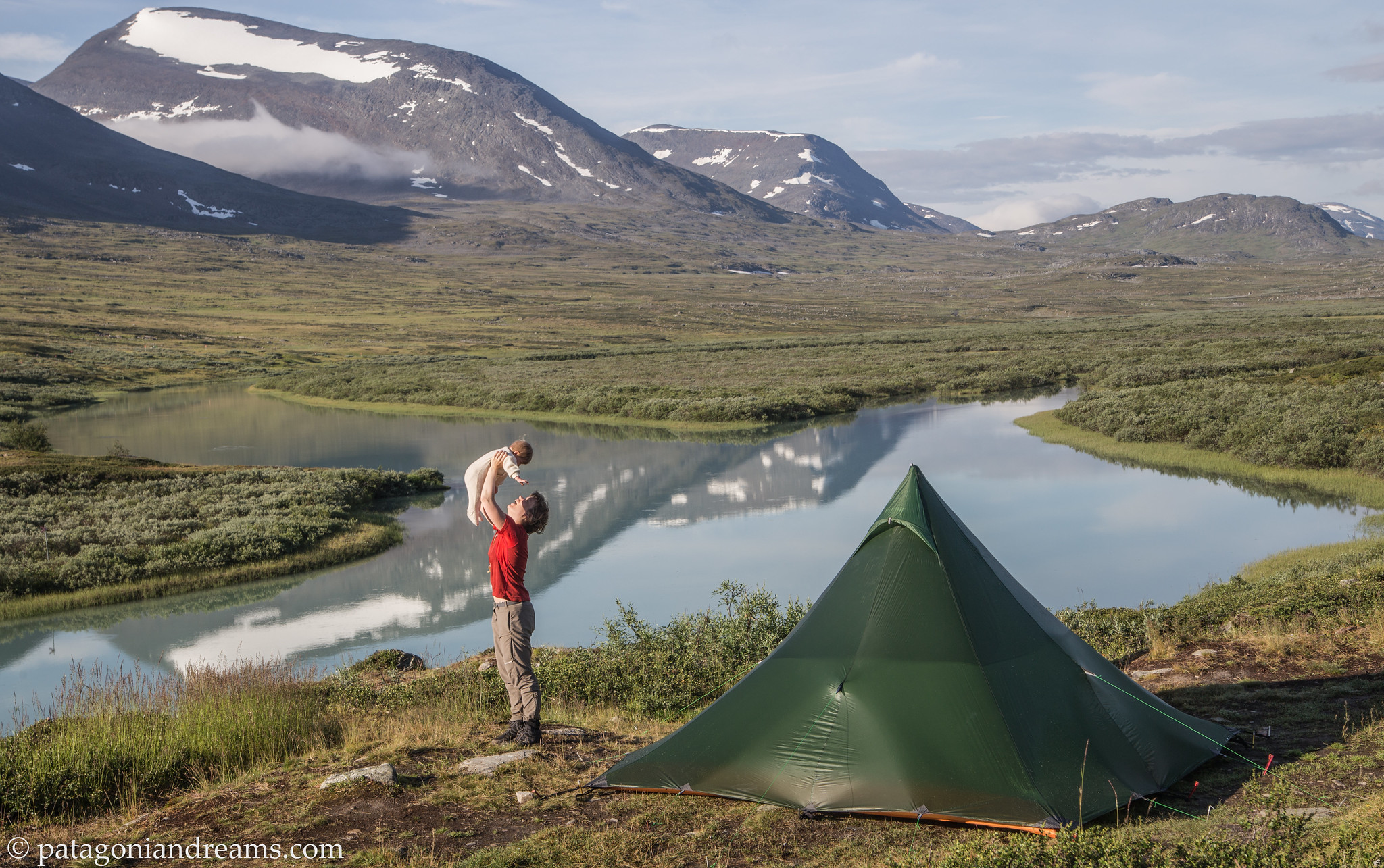 After a good night's sleep. Kungsleden. Alesjaure. Swedish Lapland.