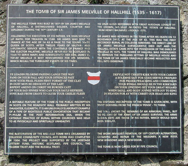 Melville Tomb information