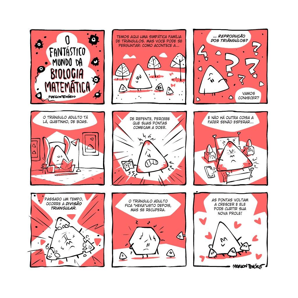 Biologia matemática - a reprodução dos triângulos