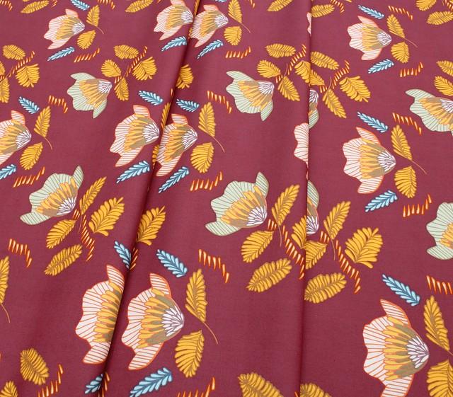 Art Gallery Fabrics Autumn Vibes Pressed Ablossom Auburn