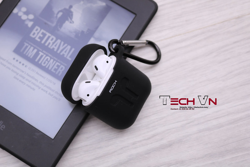 TechVn - Case airpods ROCK ốp bảo vệ airpods 09