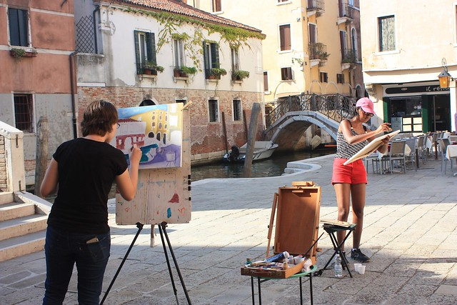 Drawing and Sketching in Venice
