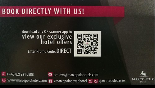 Marco Polo Davao Hotel Booking card