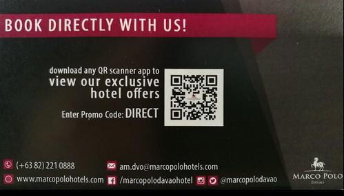 Marco Polo Davao Hotel Booking card