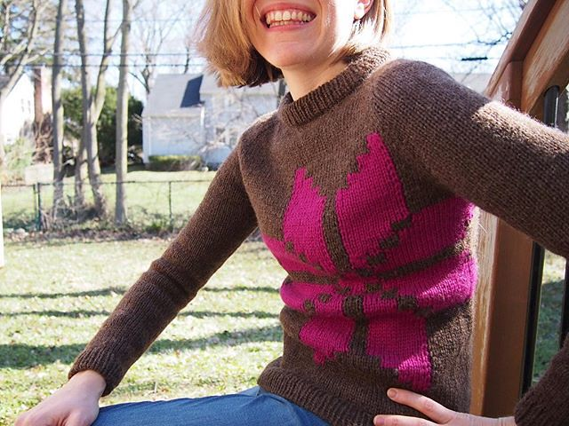 All finished: Winter Traveler (the first, since M was so darned cute in mine that I'm knitting a second one for her!)