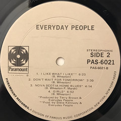 EVERYDAY PEOPLE:EVERYDAY PEOPLE(LABEL SIDE-B)