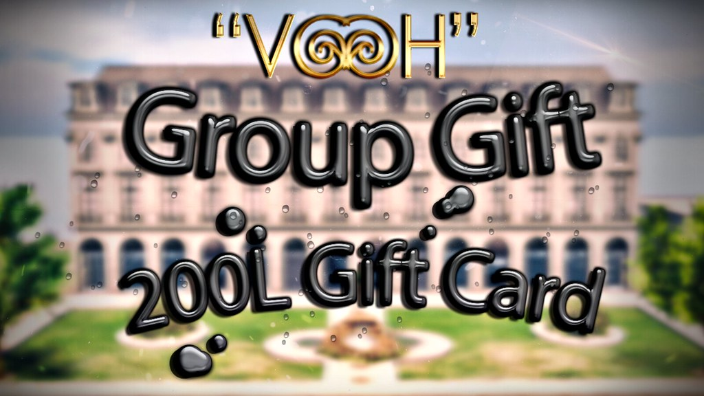 """ VOOH "" GROUP GIFT CARD"