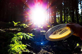 Frisbeegolf in Puijo forest