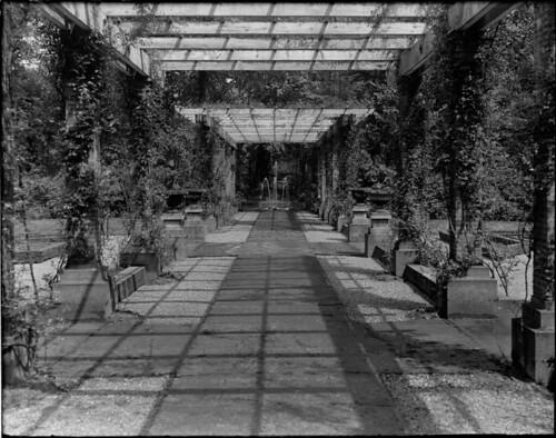De pergola van Angerenstein in de jaren dertig