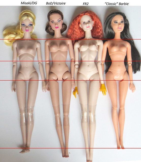 Fashion Royalty & Barbie Body Comparisons