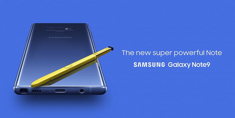 Samsung Galaxy Note 9 - Promo Banner