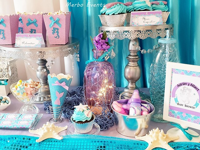 Baby Shower sirenita Merbo Events