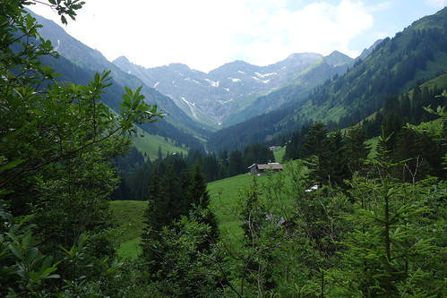 Blick zur Bergkristallhütte