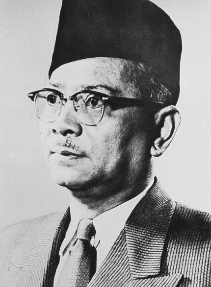 Tunku Abdul Rahman Putra Al-Haj ibni Almarhum Sultan Abdul Hamid Halim Shah II (ونكو عبدالرحمن ڤوترا الحاج ابن المرحوم سلطان عبدالحميد حاليم شه ; February 1903 – 6 December 1990) was a Malaysian politician who served as the first Chief Minister of the Federation of Malaya from 1955 to 1957, before becoming Malaya's first Prime Minister after independence in 1957. He remained Prime Minister following the formation of Malaysia in 1963, when Sabah, Sarawak, and Singapore joined the federation, until his resignation in 1970.