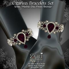 Zuri's Czarina Bracelets Set - WineMocha DiaFrostBronze