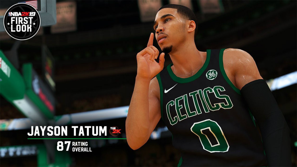 NBA 2K19 screenshot Jayson Tatum ve Donovan Mitchell - 87 overall