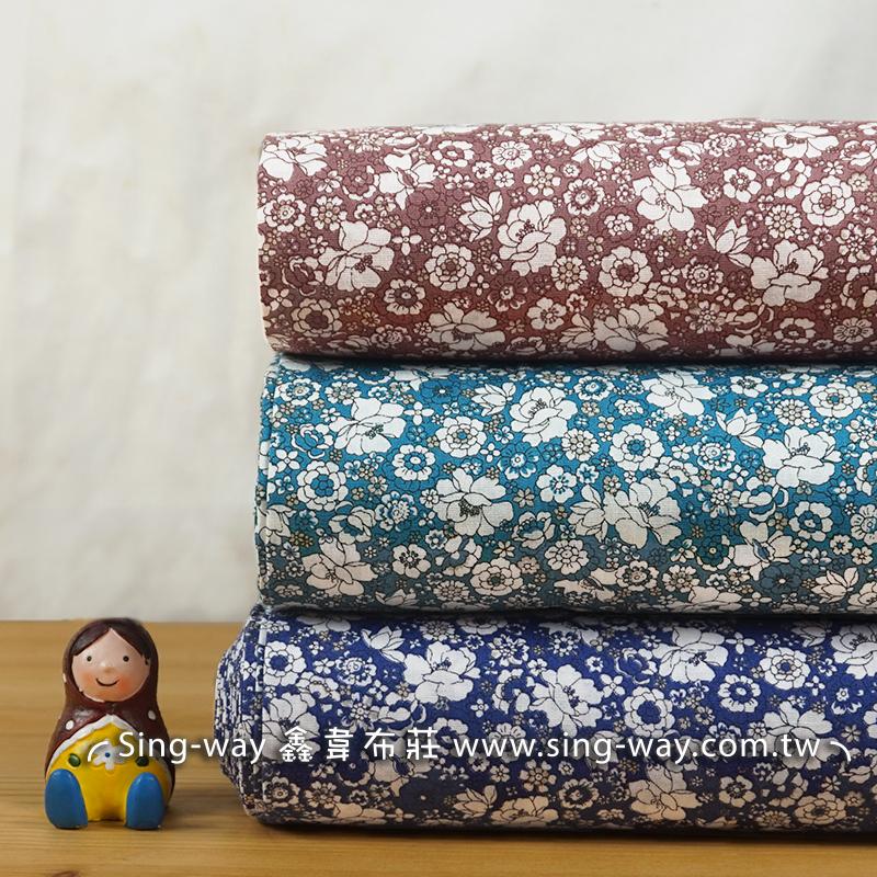 夏季百花 密集花朵 自然風 大地清晰風 束口袋 手工藝DIy拼布布料 CA450743