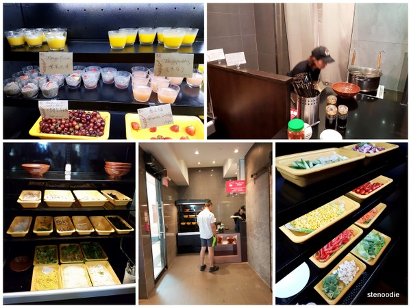 Desserts and noodle station
