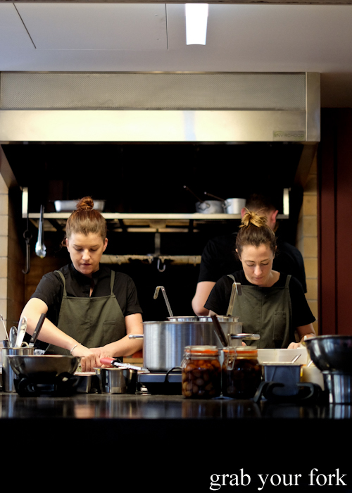 Chefs in the kitchen at Poly by Mat Lindsay in Surry Hills
