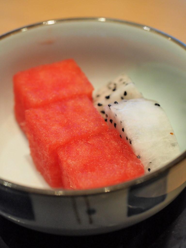 Fruits from the set dinner at Rakuzen