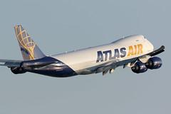 N855GT Boeing 747-8F Atlas Air Hong Kong