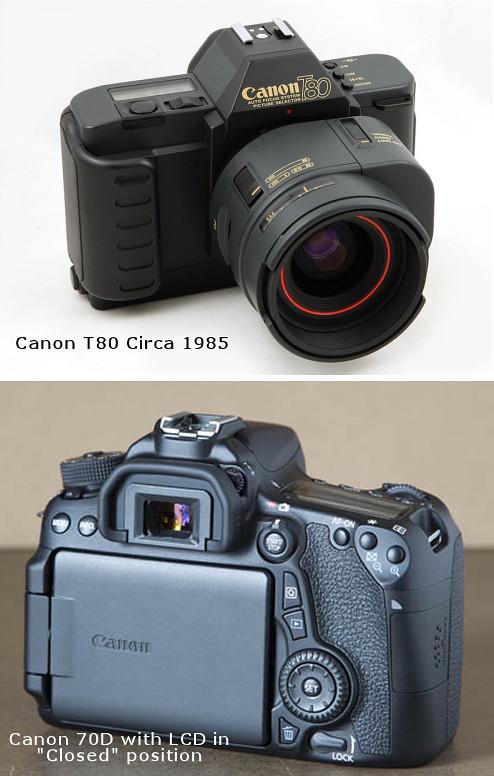 Vintage Canon SLR vs Modern DSLR