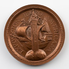 1929 Exposition Ibero America medal obverse
