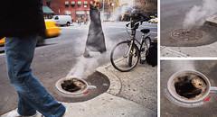 Folgers Manhole Cover Advertising