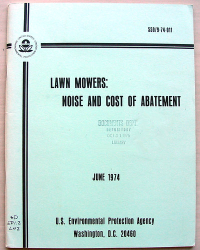 Lawn Mowers:Noise and Cost of Abatement