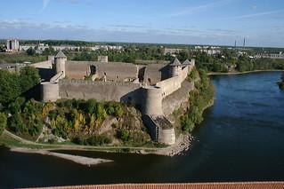 Ivangorod castle viewn from Narva castle