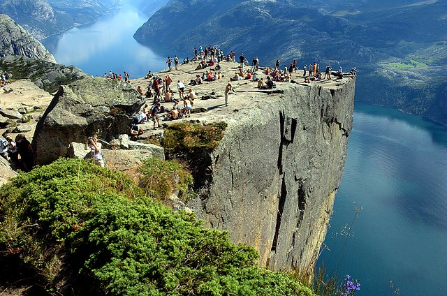 norway, cliff, pulpit, rock