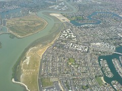 bird's-eye view, residential area, artificial island, aerial photography, waterway, infrastructure,