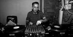 music, monochrome photography, disc jockey, recording, monochrome, black-and-white, person, black,