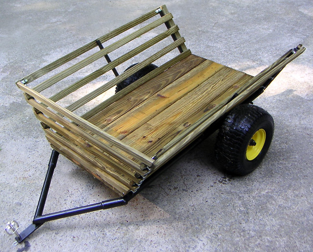 Yard cart by g mcbride flickr photo sharing for Garden cart plans