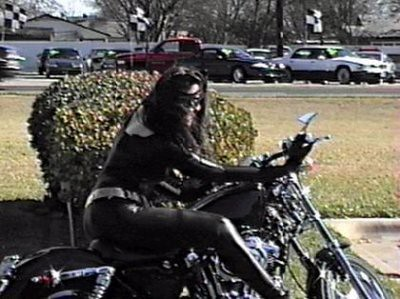 Catwoman on a motorcycle   Flickr - Photo Sharing!