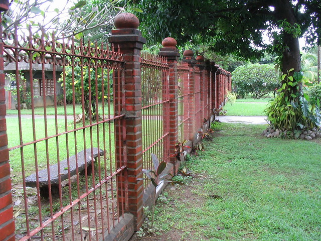 Wrought Iron Red Bricks Fence Flickr Photo Sharing
