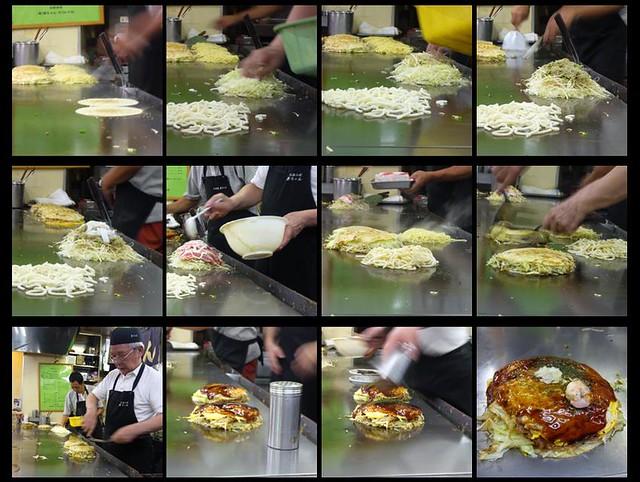 making hiroshima style okonomiyaki | 新ちゃんshin-chan @広島 ...