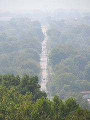 Road seen from rooftop