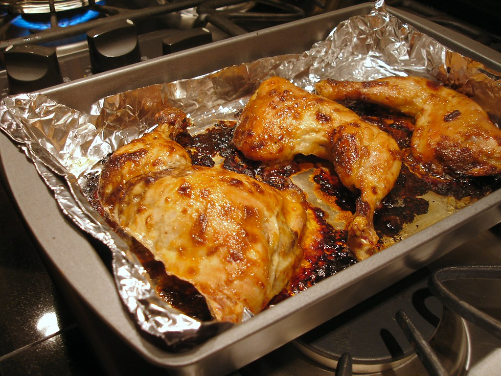Oven-Roasted Dijon Glazed Chicken