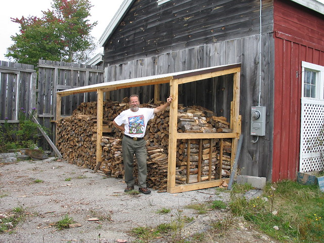Happiness is a full wood shed