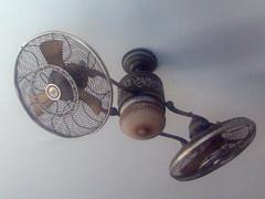 ceiling fan, mechanical fan, iron,