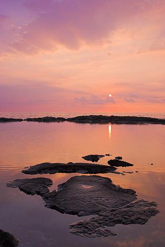 sunset reflection hawaii lava bigisland kona honaunau kaheka 27344b