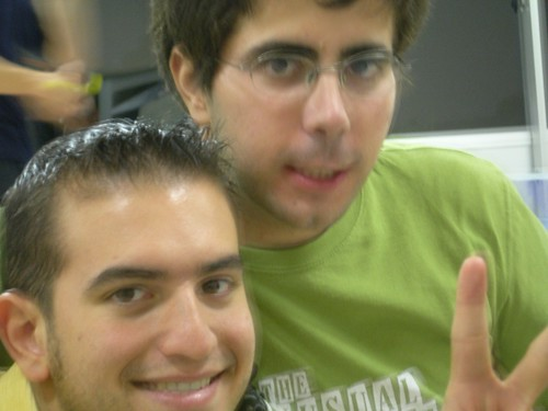 Con Gonzalo en la uni