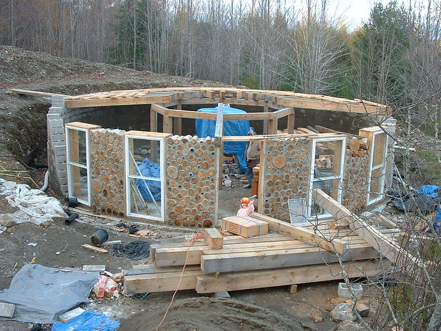 Round cordwood house plans home design and style for Cordwood building plans