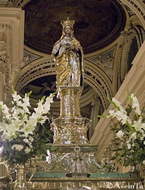 Imagen Procesional de la Virgen del Pilar. Zaragoza