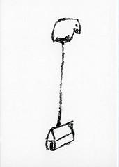 croxcard 44 Thomas Böing (1963) Birdhouse, 2006 tekening 20x30 cm