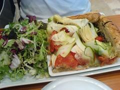 Tarte courgette, tomate et artichaut