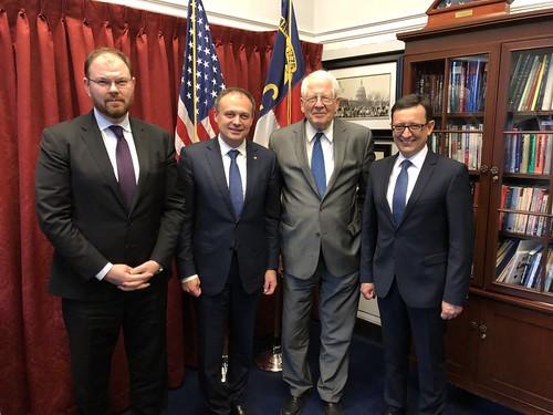 17.04.2018 Întâlnire Andrian Candu cu Co-Președintele grupului de prietenie din Camera Reprezentatilor a Congresului SUA, David Price