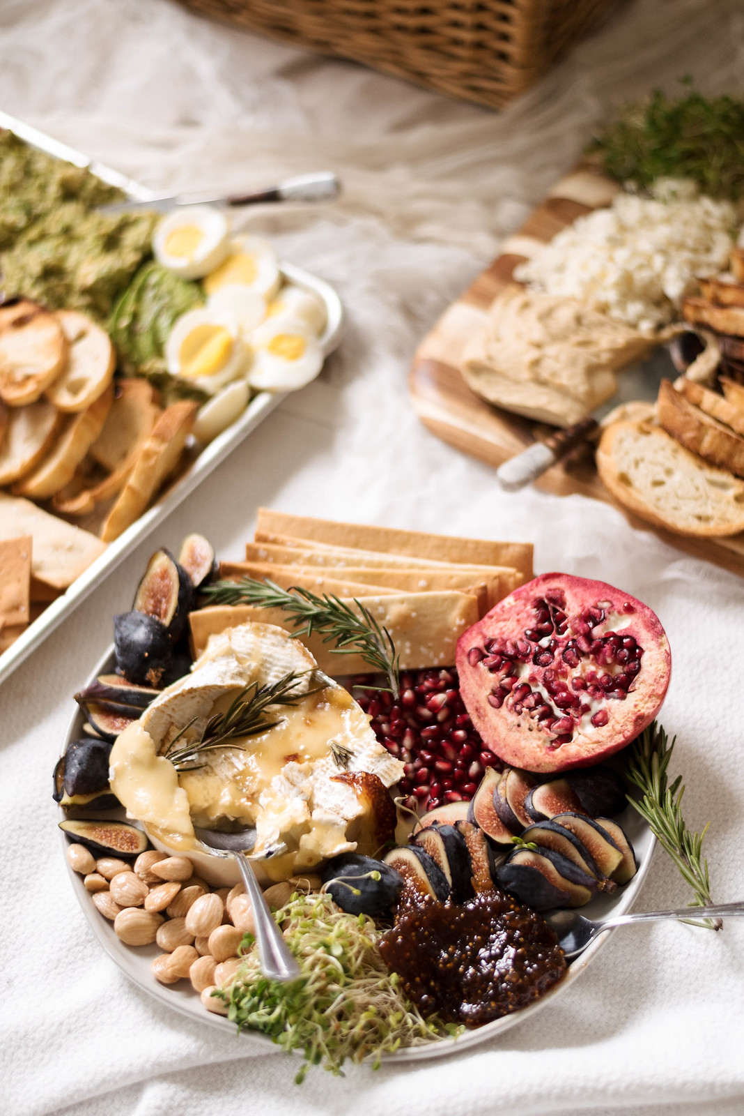 Baked Brie Avocado Toast Cheese Board